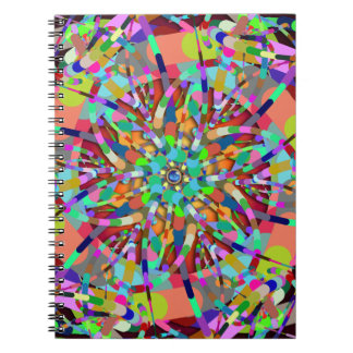 Primordial Egg - Multi color abstract burst Notebook