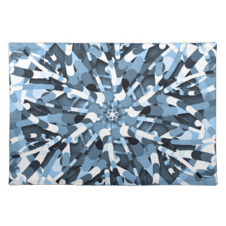 Primordial Egg - Multi color abstract burst Placemat