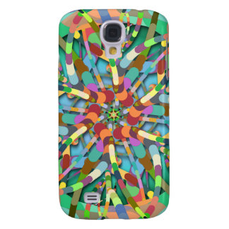 Primordial Egg - Multi color abstract burst Samsung Galaxy S4 Cover