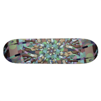 Primordial Egg - Multi color abstract burst Skateboard