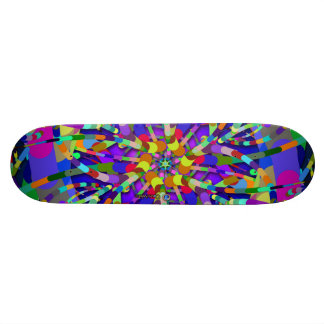 Primordial Egg - Multi color abstract burst Skateboard Deck