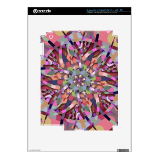 Primordial Egg - Multi color abstract burst Skins For iPad 3