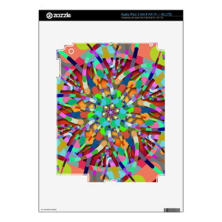 Primordial Egg - Multi color abstract burst iPad 3 Decal