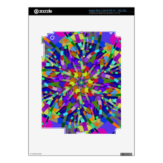 Primordial Egg - Multi color abstract burst Decals For iPad 3