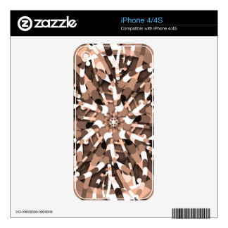Primordial Egg - Multi color abstract burst Skin For iPhone 4