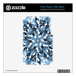Primordial Egg - Multi color abstract burst Skin For iPod Touch 4G