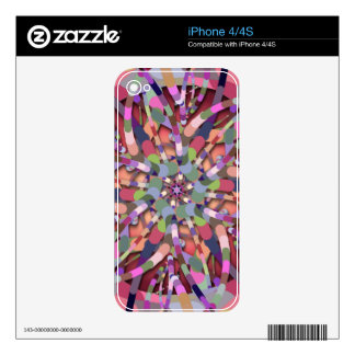 Primordial Egg - Multi color abstract burst Skins For iPhone 4S