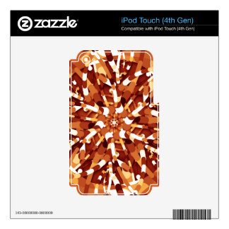 Primordial Egg - Multi color abstract burst Skins For iPod Touch 4G