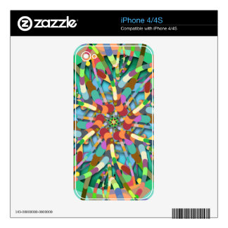 Primordial Egg - Multi color abstract burst Skins For The iPhone 4
