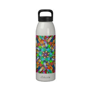 Primordial Egg - Multi color abstract burst Water Bottles