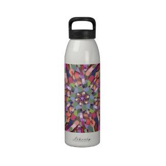 Primordial Egg - Multi color abstract burst Water Bottle