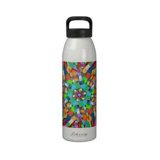Primordial Egg - Multi color abstract burst Reusable Water Bottle