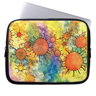 Primordial Suns Abstract Laptop Bag Laptop Computer Sleeves
