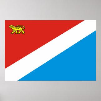 Primorsky Krai, Russia flag Print