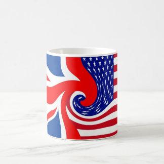 PRIMOS DE UK/USA FLAG-LOVIN TAZA DE CAFÉ