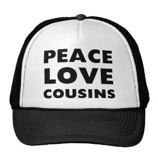 Primos del amor de la paz gorras de camionero
