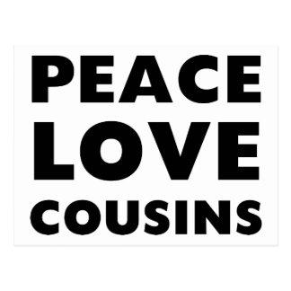 Primos del amor de la paz tarjetas postales