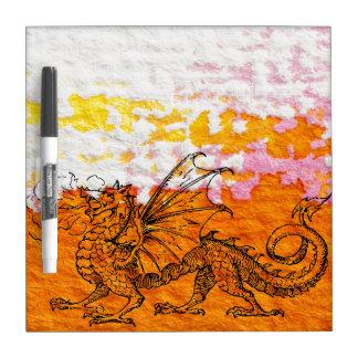 Primping Dragon Dry Erase Board