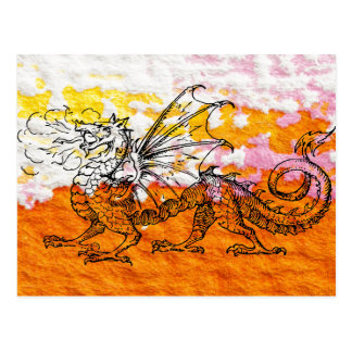 Primping Dragon Postcard