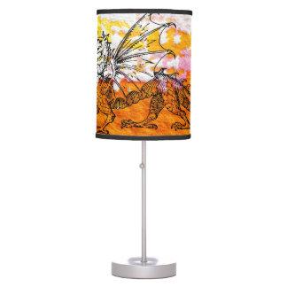 Primping Dragon Table Lamp