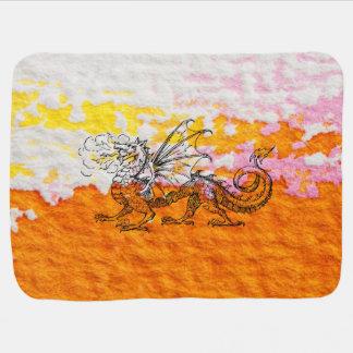 Primping Dragon Baby Blanket