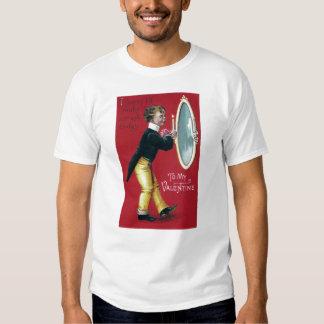 Primping in Mirror Vintage Valentine T-Shirt