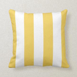 Primrose and White Striped Throw Pillow