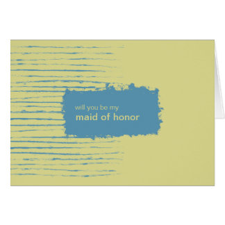 Primrose Be My Maid of Honor Invitation Card