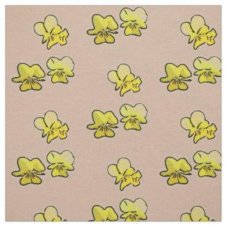 Primrose Blooms (Brown) Fabric