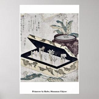 Primrose by Kubo, Shunman Ukiyoe Poster