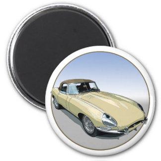 Primrose E Type Roadster Magnet