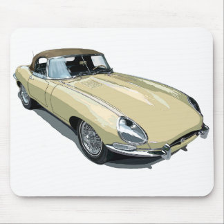 Primrose E Type Roadster Mouse Pad