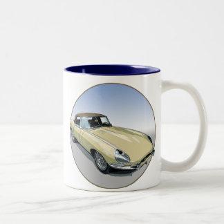 Primrose E Type Roadster Two-Tone Coffee Mug
