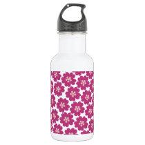 Primrose Floral Pattern Stainless Steel Water Bottle