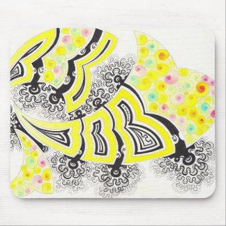 Primrose fractal-style design mouse pad
