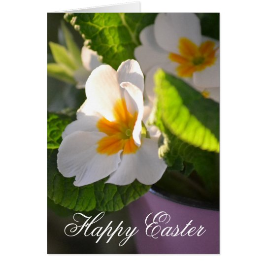 Primrose Happy Easter Card