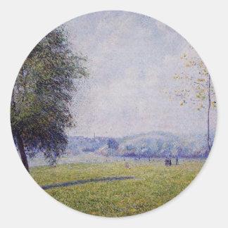 Primrose Hill, Regent's Park by Camille Pissarro Classic Round Sticker