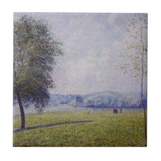 Primrose Hill, Regent's Park by Camille Pissarro Tile