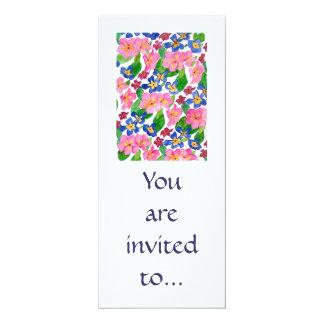 Primrose Invitation Card. 10 Cm X 24 Cm Invitation Card