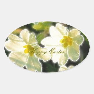 Primrose (Primula Vulgaris) Oval Sticker