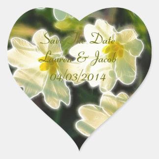Primrose (Primula Vulgaris) Heart Sticker