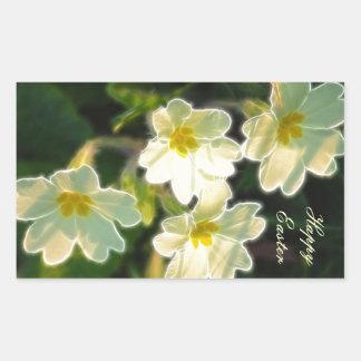 Primrose (Primula Vulgaris) Rectangular Sticker