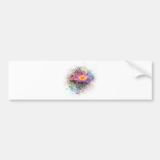 Primrose Watercolor Bumper Sticker