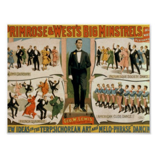 Primrose & West, 'All Whit Performers' Retro Theat Posters