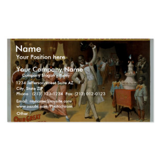 Primrose West s Cake Walk Vintage Theater Business Card Template