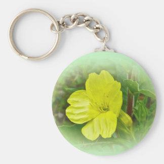 Primrose Yellow Wildflower Coordinating Items Keychain