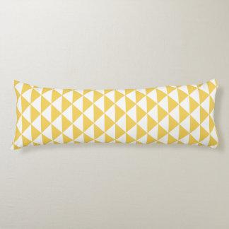Primrose Yellow with White Coastal Geometric Arrow Body Pillow