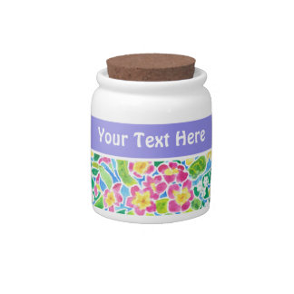 Primroses Customizable Storage Jar Candy Jar