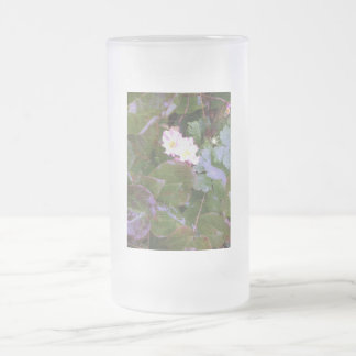 Primroses in the Rain Frosted Glass Beer Mug