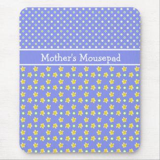 Primroses Mousepad to Personalize Polka Dots, Blue